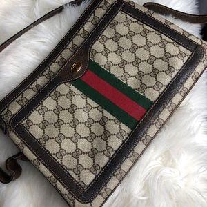 Vintage Gucci Signature Messenger Bag